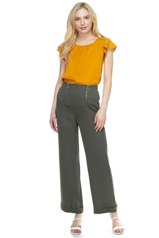 Double O-ring Zipper Up Pants - myfoxyfarmdesigns.com