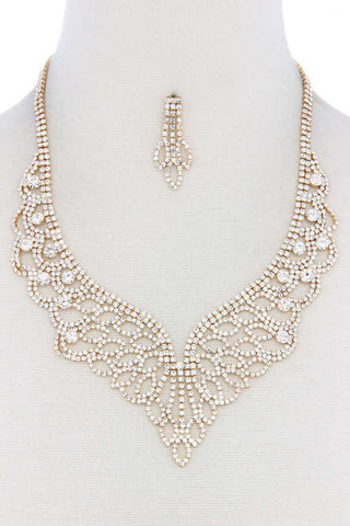 Rhinestone Necklace - myfoxyfarmdesigns.com