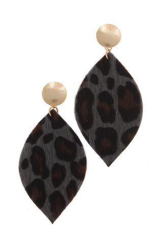 Animal Print Post Drop Earring - myfoxyfarmdesigns.com