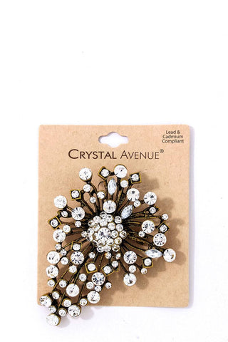 Stylish Modern Multi Rhinestone Brooch - myfoxyfarmdesigns.com