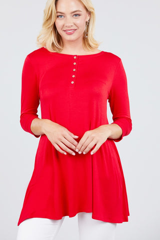 Red Spandex Button Top - myfoxyfarmdesigns.com