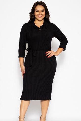 Plus Pleated Solid, Midi Tee Dress - myfoxyfarmdesigns.com