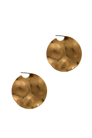 Chic Fashion Bent Circle Earring - myfoxyfarmdesigns.com