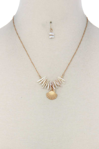 Seashell Charm Necklace - myfoxyfarmdesigns.com