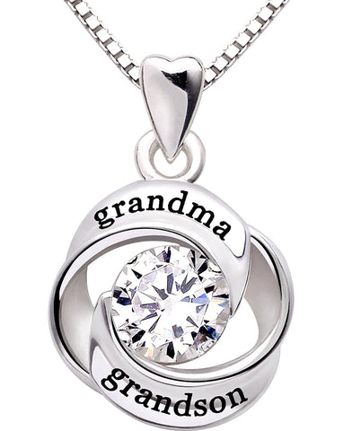 Swarovski Crystals Grandma Grandon - Pave Heart  Necklace - myfoxyfarmdesigns.com
