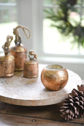 Copper Mercury Glass Globe