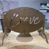 Crave Metal Sign