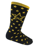 Lacrosse Playground Essential Black and Gold Mid Calf Socks