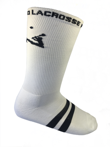 Lacrosse Playground Essential White LAXPG Mid Calf Socks