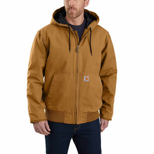 Carhartt 104050-BRN Washed Duck Insulated Active Jacket