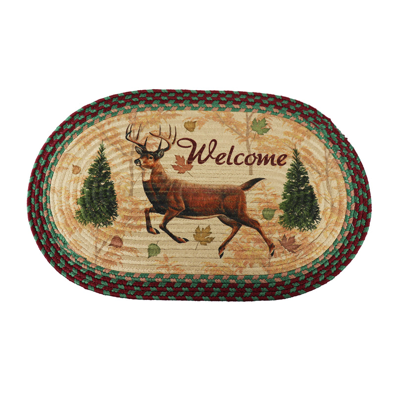 River's Edge 2521 26 Inch Deer Oval Braided Rug