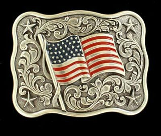 Waving Flag Belt Buckle<br>M & F 37706