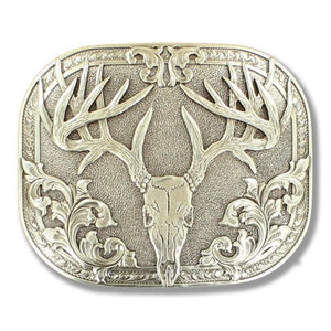 Buck Skull Belt Buckle<br>M&F 37984