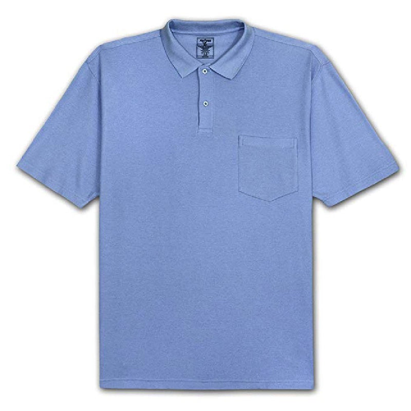 Solid Pocket Pique Polo Shirt, Big & Tall<br>Foxfire 421