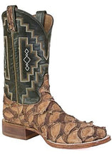 Load image into Gallery viewer, Tony Lama 6082 Leviathan Chocolate Pirarucu Big Bass Men's Western Boot