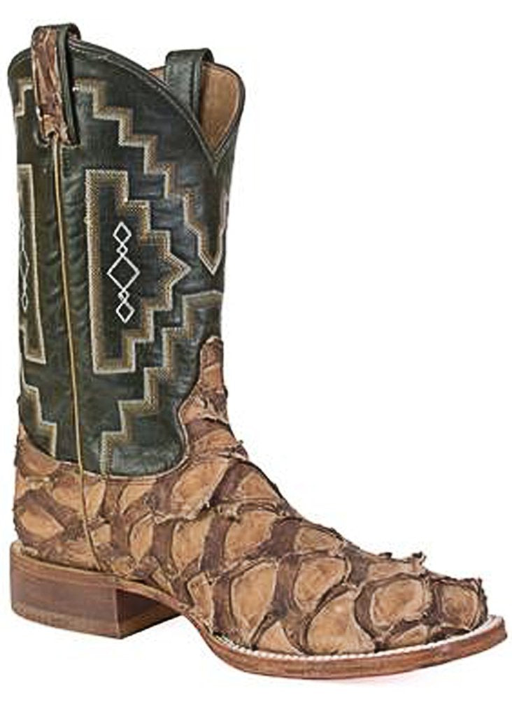 Tony Lama 6082 Leviathan Chocolate Pirarucu Big Bass Men's Western Boot