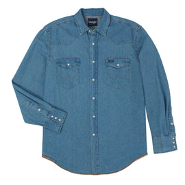 Authentic Cowboy Cut® Denim Work Shirt<br>Wrangler 70127SW