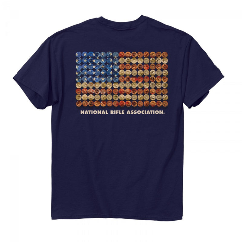 NRA Shot Gun Flag T-Shirt<br>Buck Wear 7420