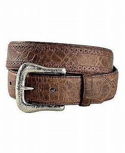 Brown Gator Print Belt<br>Ariat A10011717
