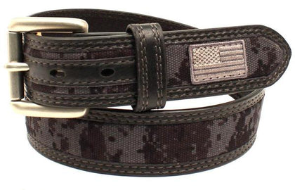 Digi Camo US Flag Belt, Black<br>M&F A1035001