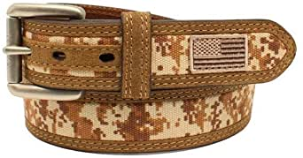 Ariat A1035044 Desert Digi Camo US Flag Belt
