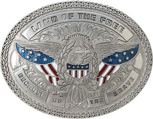 Land Of The Free Belt Buckle<br>M&F 37916