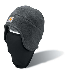 Carhartt A202 Men's warm fleece hat with attached face mask.