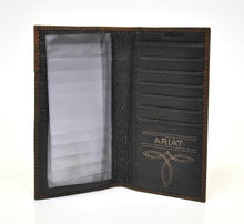 Load image into Gallery viewer, Overlay Boot Stitch & Shield Leather Checkbook/Rodeo Wallet<br>Ariat A3510802