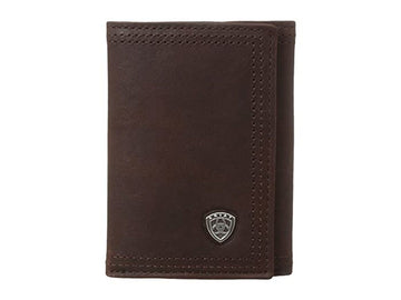 Brown Rowdy Trifold Copper Wallet<br>Ariat A35122283