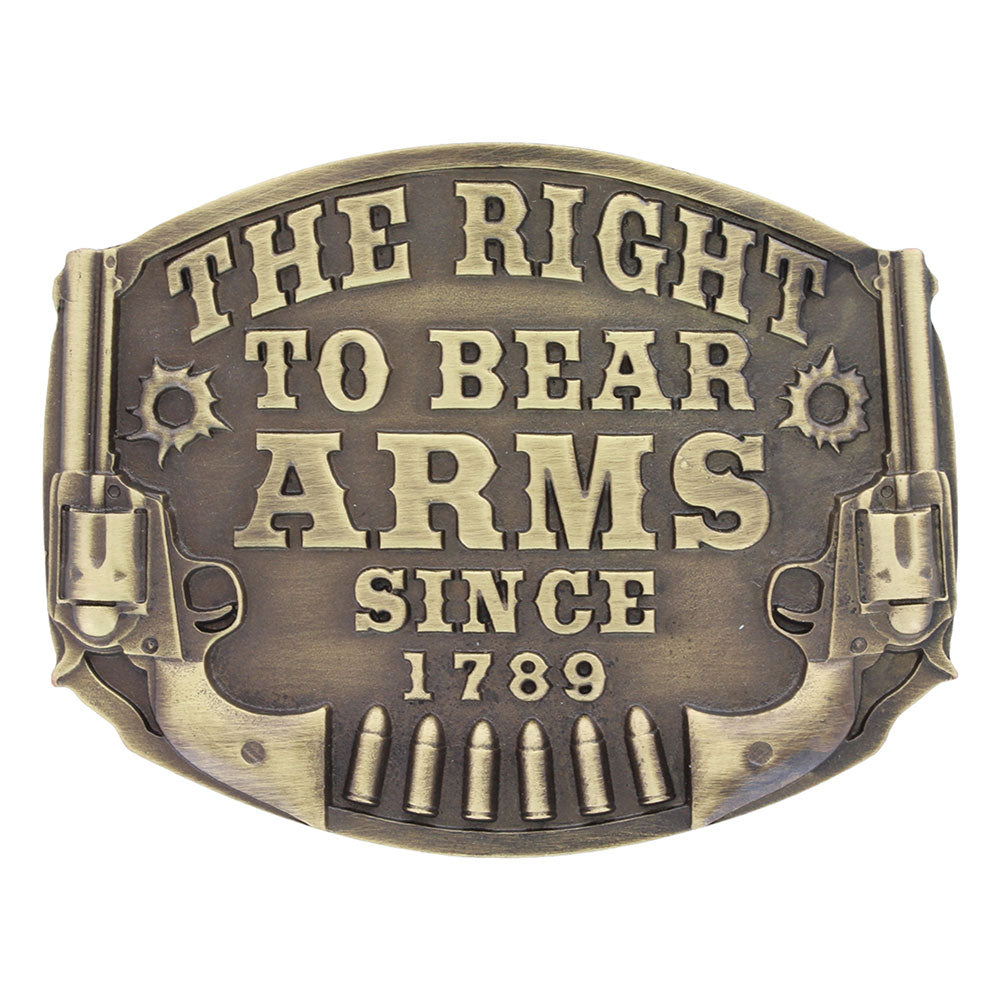 Heritage The Right to Bear Arms Attitude Buckle