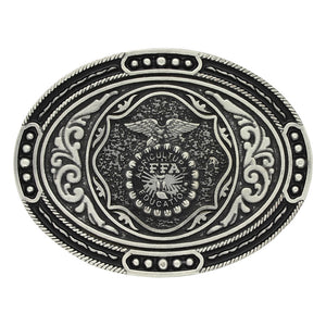 Classic FFA Antiqued Attitude Belt Buckle<br>Montana Silversmiths A693S