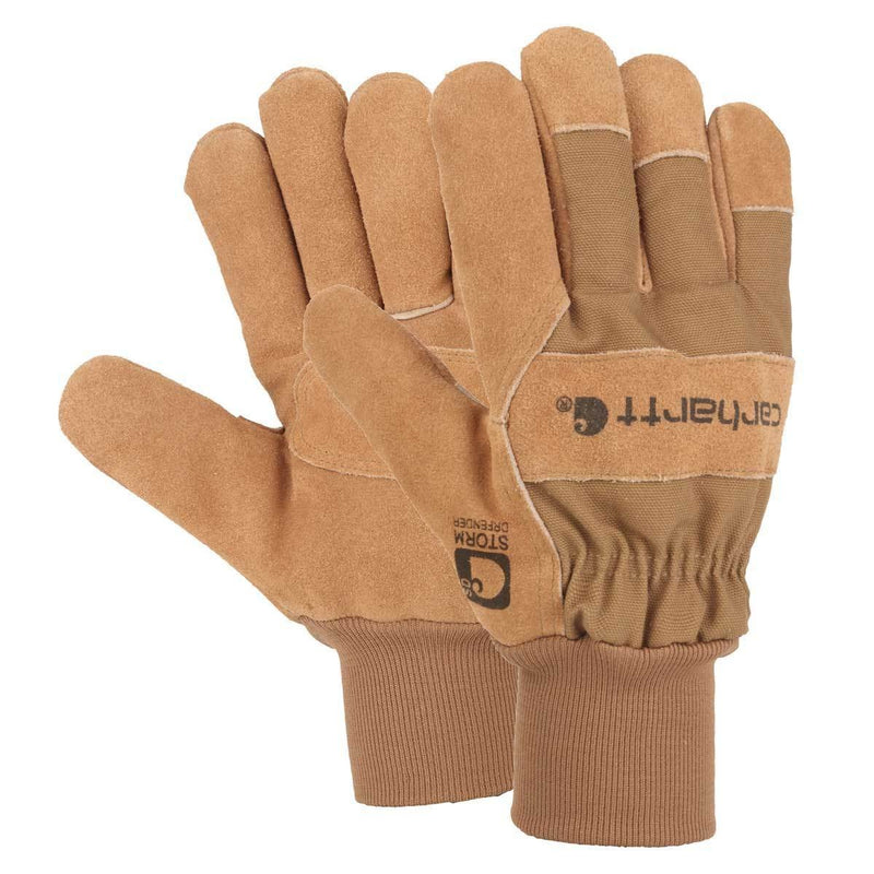 Waterproof Breathable Suede Knit Cuff Work Gloves<br>Carhartt A705