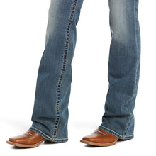 Load image into Gallery viewer, Ariat 10016202 R.E.A.L. Mid Rise Whipstitch Boot Cut Jean, Rainstorm