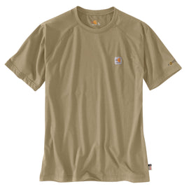 Carhartt 102903-250 Flame Resistant Force Cotton Short Sleeve T-Shirt, Khaki