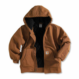 Carhartt CP8417 D15 Active Jac Flannel Quilt Lined Coat, Carhartt Brown