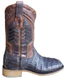 Corral A3878 Oil Brown Caiman Square Toe