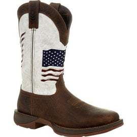 Durango DDB0312 REBEL™ BY DURANGO® DISTRESSED FLAG EMBROIDERY WESTERN BOOT