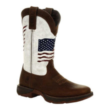 Load image into Gallery viewer, Durango DRD0394 Lady Rebel™ Distressed Flag Embroidery Western Boots