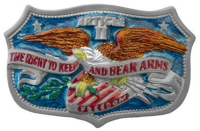 2nd Amendment - Right To Bear Arms Belt Buckle<br>Western Express G-459