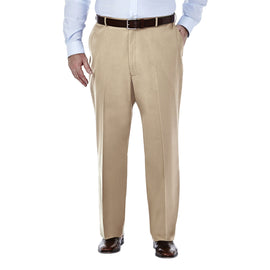 Premium No Iron Khaki Pants, Big & Tall<br>Haggar HC90884