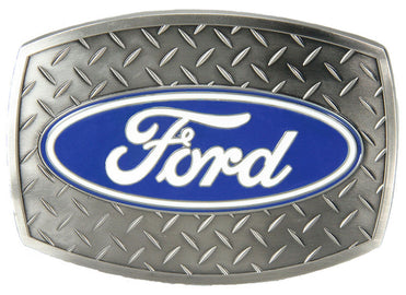 Ford Diamond Plate Silver Belt Buckle<br>Western Express JD-119