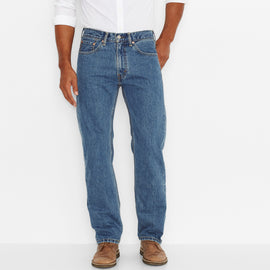 Levi's 505-4891 505™ Regular Fit Straight Leg Jeans, Medium Stone Wash