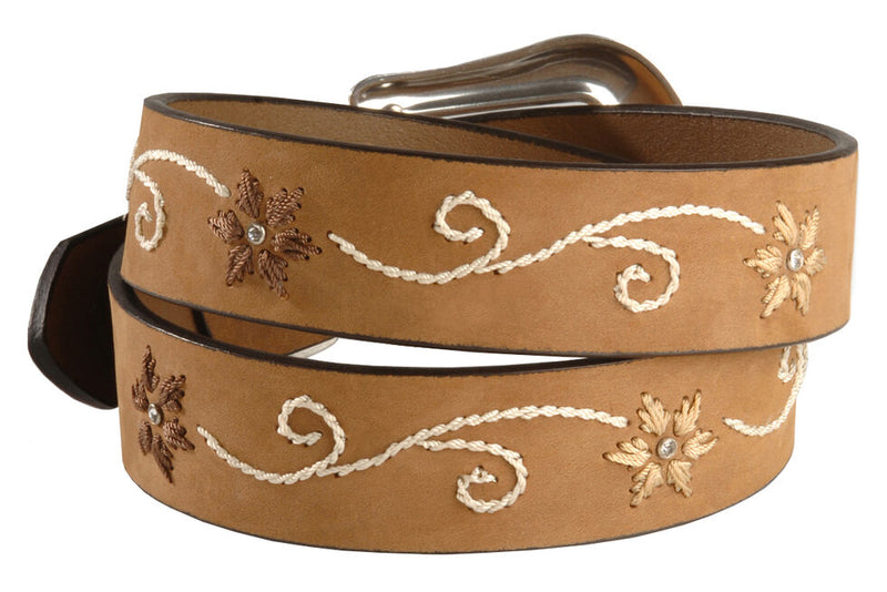 Nocona N3447044 Brown Flower Embroidered