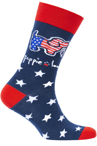 YOUTH CREW SOCK, USA PUP<br>Puppie Love P302