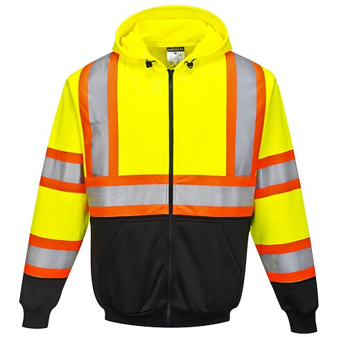 Kansas Hi-Vis Full-Zip Hoody<br>Portwest UB316YBR
