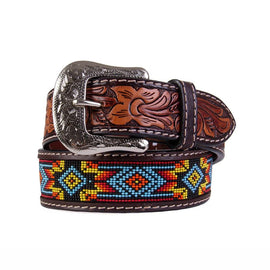 Beaded Red Floral Billet Belt<br>Twisted X XIBB-100