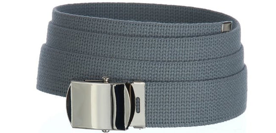 Baron Belts 4002BP6GRAY Canvas Gray Web Belt
