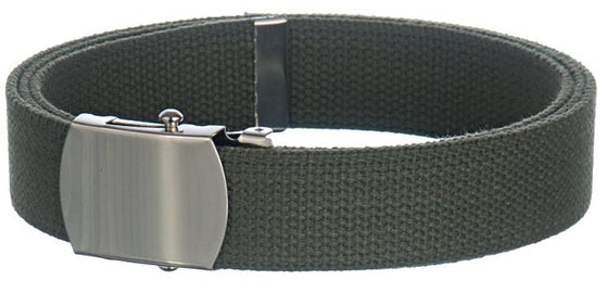 Baron Belts 4002BP6GRAY Canvas Olive Web Belt