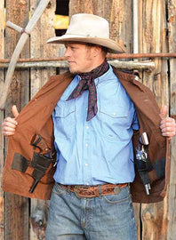 Chisum Concealed Carry Canvas Jacket<br>Wyoming Traders Chisum Choc