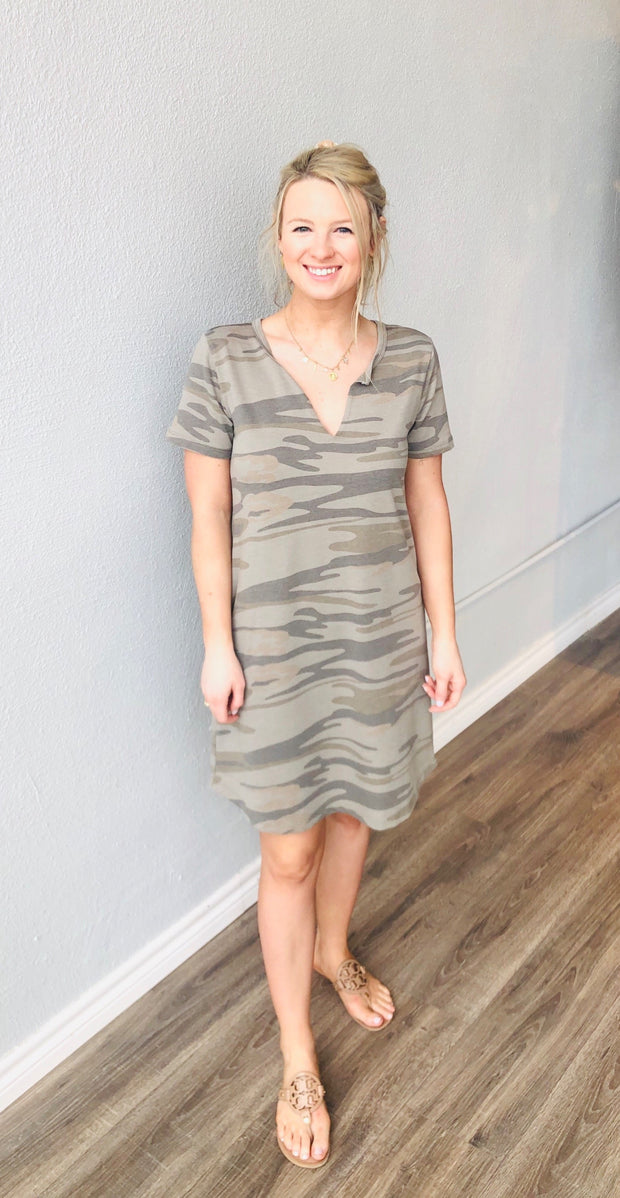 Light Sage Camo Dress